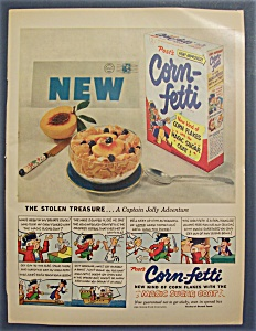 1953 Post's Corn - Fetti Cereal