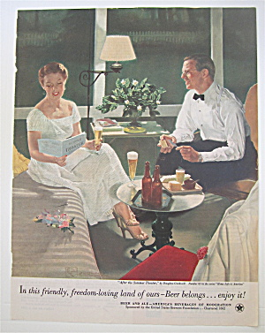 1953 Beer Belongs w/ After Summer Theater By Crockwell (Image1)