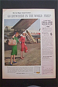 1959 Kotex Napkins with Two Stewardesses By Plane (Image1)