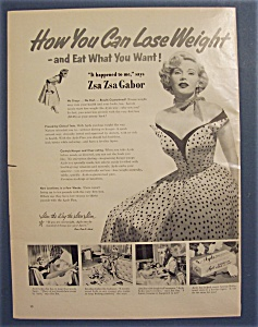 1953 Ayds Reducing Plan With Zsa Zsa Gabor