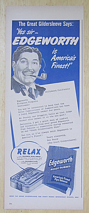 1949 Edgeworth Pipe Tobacco with Great Gildersleeve (Image1)