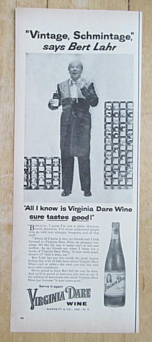 1955 Virginia Dare Wine with Bert Lahr (Image1)