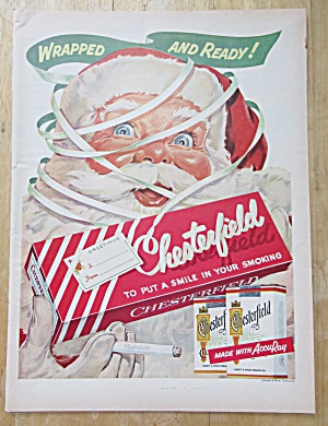 1955 Chesterfield Cigarettes w/ Santa Claus & Cigarette (Image1)