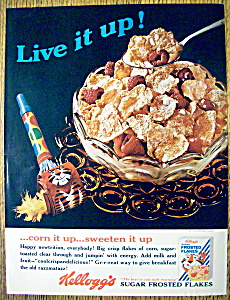 Vintage Ad: 1965 Kellogg's Sugar Frosted Flakes (Image1)