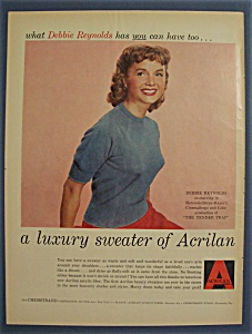 1955 Acrilan with Singing In The Rain's Debbie Reynolds (Image1)