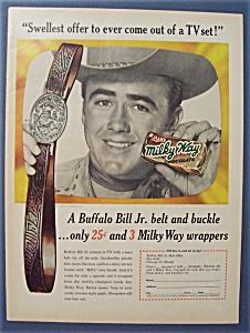 Vintage Ad: 1955 Milky Way with Buffalo Bill Jr. (Image1)