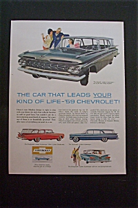1959 Chevrolet with 4 Different Chevy Models (Image1)