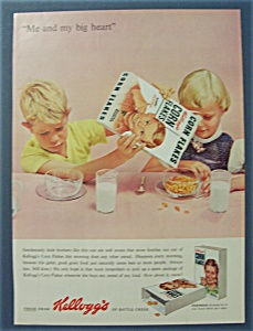 1955 Kellogg's Corn Flakes w/Boy Pouring Cereal (Image1)