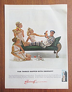 Vintage Ad: 1958 Smirnoff Vodka With Benny Goodman