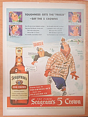 1943 Seagram's 5 Crown Whiskey w/Richness & Toughness (Image1)