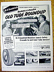 Ad: 1955 B.F. Goodrich w/George Burns & Gracie Allen (Image1)
