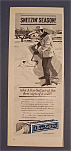 1961 Alka Seltzer with A Man Shoveling Snow  (Image1)