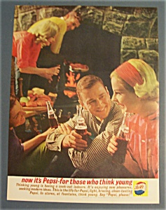 1961 Pepsi-Cola (Pepsi) with People Drinking Bottles (Image1)