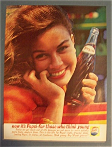 1961 Pepsi-cola (Pepsi) With Woman Holding Bottle