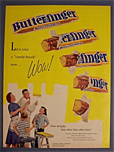 Vintage Ad: 1961 Curtiss Butterfinger Candy Bar (Image1)