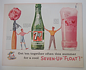 1957 7 Up (Seven Up) with Enjoy Summer with a Float (Image1)