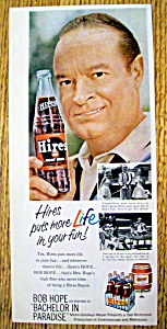 Vintage Ad: 1961 Hires Root Beer With Bob Hope