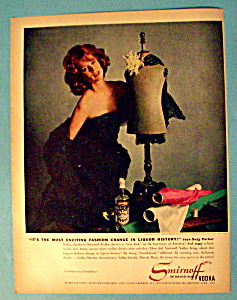Vintage Ad: 1961 Smirnoff Vodka With Suzy Parker