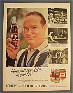 1961 Hires Root Beer With Bob Hope