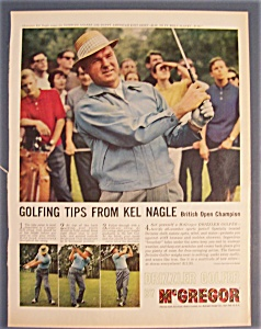 1961 Mc Gregor Drizzler Golfer With Kel Nagle