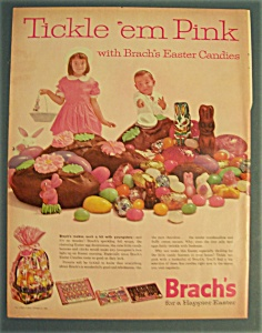 1962 Brach's Easter Candies W/2 Children Looking