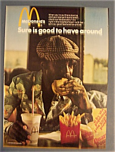1974 Mc Donald's Restaurant W/man With Quarter Pounder