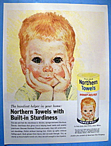 1961 Northern Towels with Boy Resting Head In Hands (Image1)