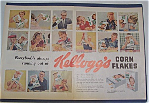 1955 Kellogg's Corn Flakes With Many Different Faces