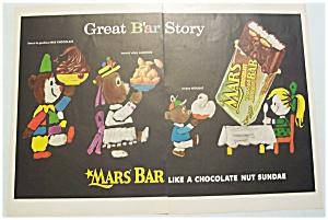 Vintage Ad: 1955  Mars Chocolate  Bars (Image1)