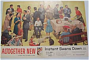 1955 Instant Swans Down Cake Mix