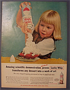 Vintage Ad: 1961 Lucky Whip Dessert Topping