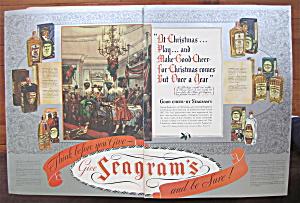 1937 Seagram's Whiskey With Good Cheer