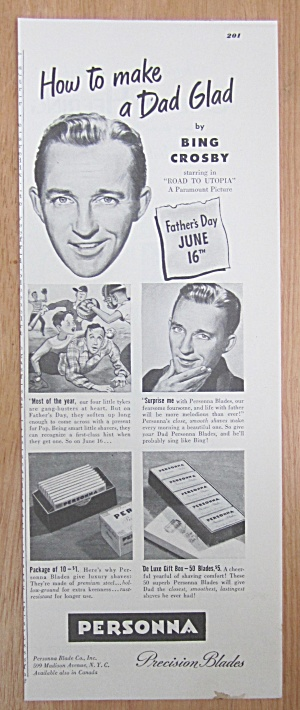 1946 Personna Precision Blades with Bing Crosby (Image1)