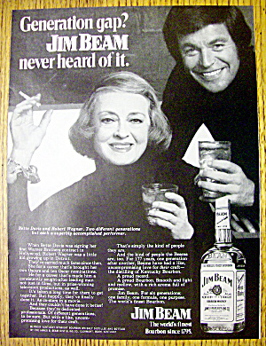 1972 Jim Beam Whiskey with Bette Davis & Robert Wagner (Image1)
