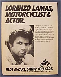 1986  Motorcycle Industry Council w/ Lorenzo  Lamas (Image1)