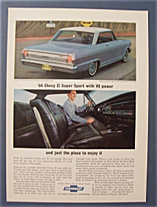 1964 Chevrolet Ad With Chevy Ii Nova Sport Coupe