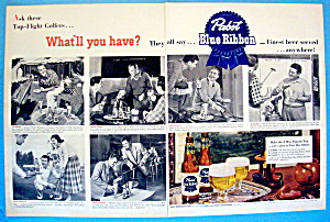 Vintage Ad: 1951 Pabst Blue Ribbon Beer W/wood & More
