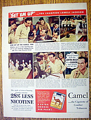 1942 Camel Cigarettes with Bowler Lowell Jackson (Image1)