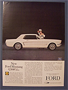 1964 Ford Mustang Ad With Man & Woman