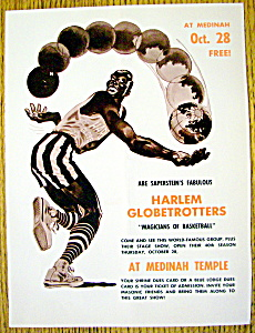 1965 Harlem Globetrotters At Medinah Temple Ad