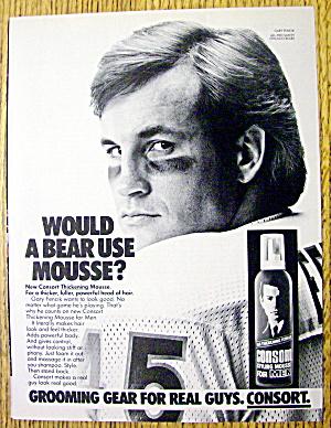 1985 Consort Hair Spray with Chicago Bears Gary Fencik (Image1)