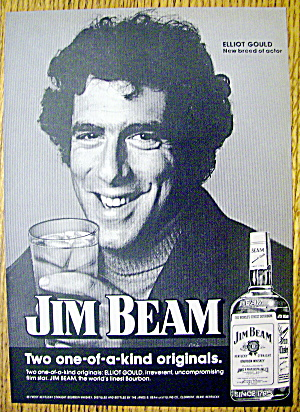 1974 Jim Beam Whiskey with Actor Elliot Gould (Image1)