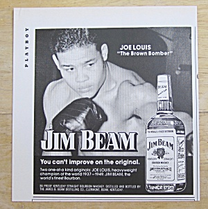 1974 Jim Beam Whiskey With Boxer Joe Louis