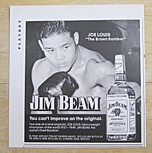 1974 Jim Beam Whiskey with Boxer Joe Louis (Image1)