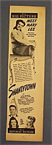 1943 Movie Ad For Meet Mary Lee & Shantytown