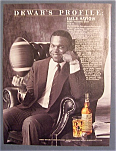 Vintage Ad: 1985 Dewar's Whiskey with Gale Sayers (Image1)