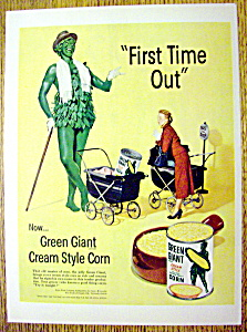 Vintage Ad: 1952 Green Giant Cream Style Corn