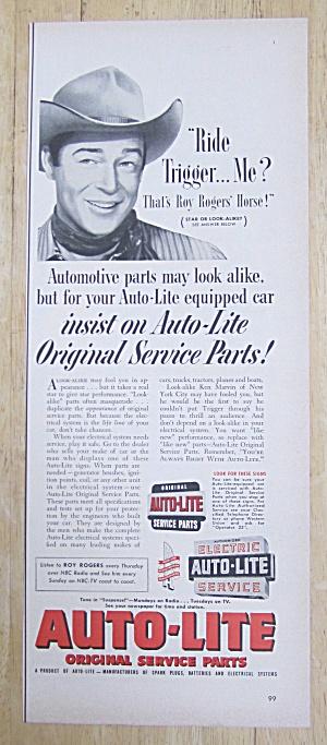 1953 Auto Lite Service Parts with Cowboy Roy Rogers  (Image1)