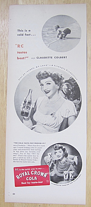 1947 Royal Crown Cola with Claudette Colbert (Image1)