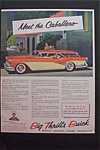 1957 Buick With The Buick Caballero